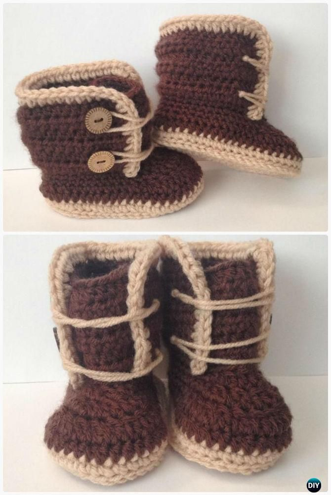 Crochet Baby Winter Boots Free Pattern Crochet Ankle High Baby