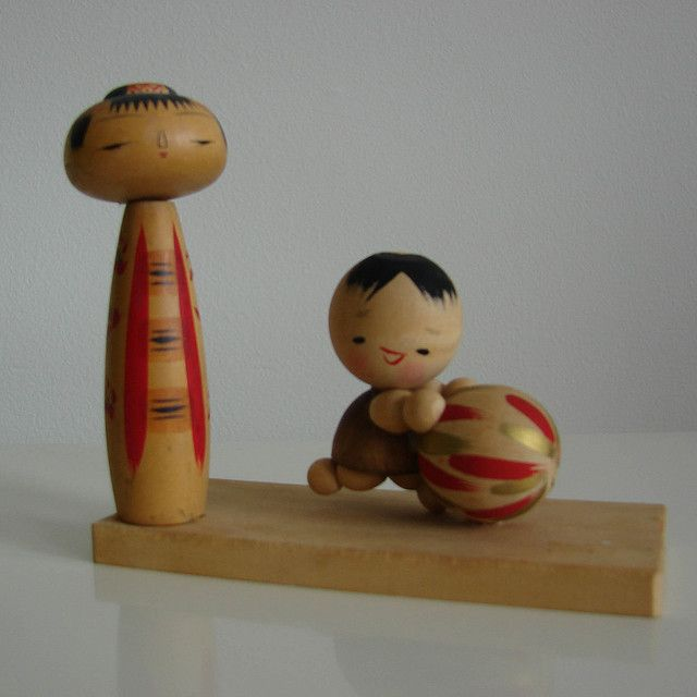 Kokeshi doll by hownowdesign, via Flickr