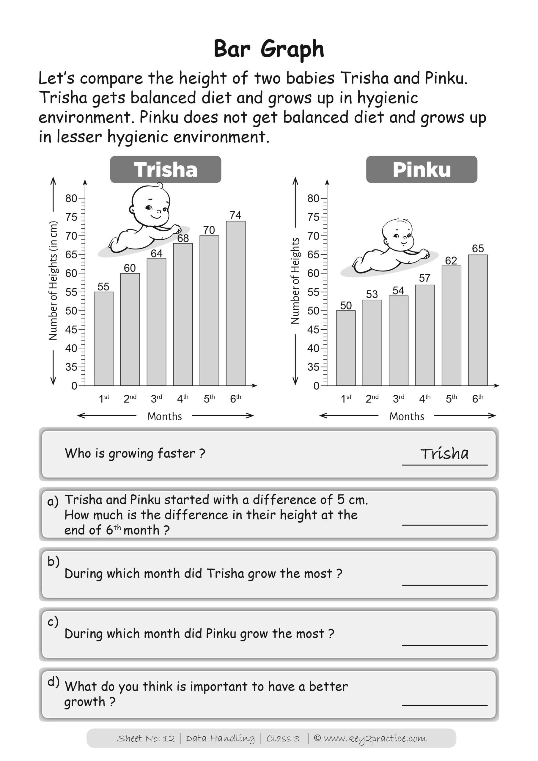 Pictograph Worksheets 4th Grade Bar Graph Grade 3 I Maths