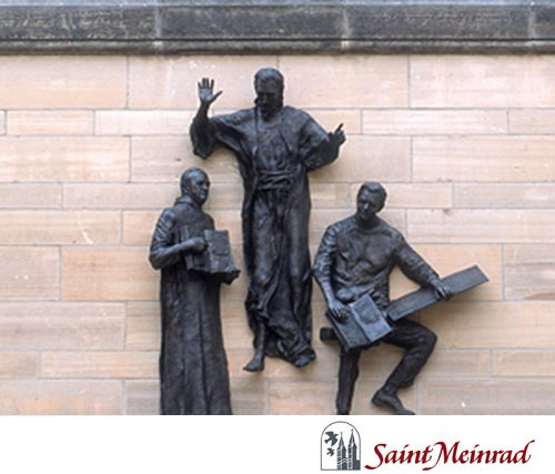 Bronze Figures Of Christ A Monk Teacher And A Student Look Down