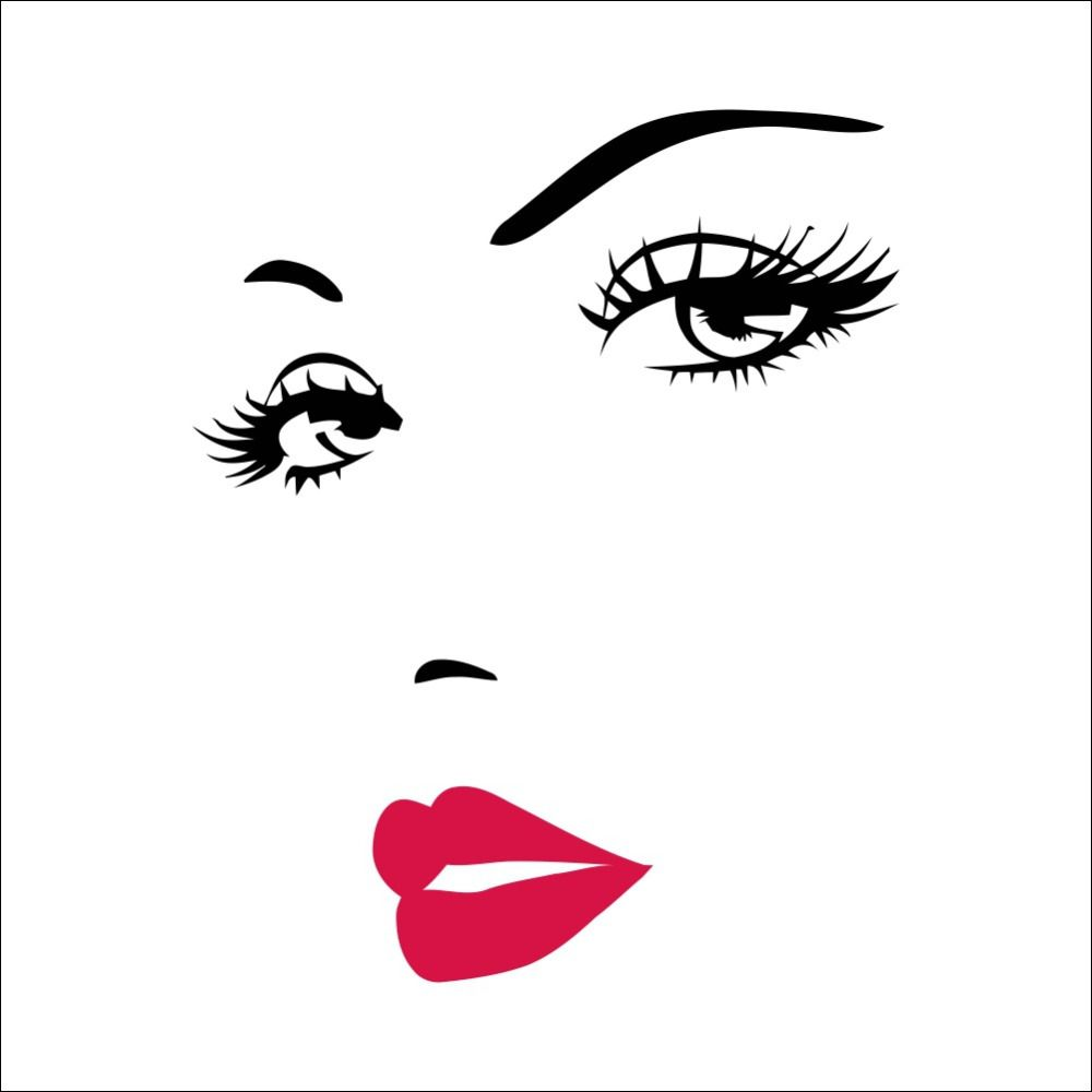 Sexy girl lip eyes wall stickers living bedroom decoration diy sexy girl lip eyes wall stickers living bedroom decoration diy vinyl adesivo de paredes home decals amipublicfo Images