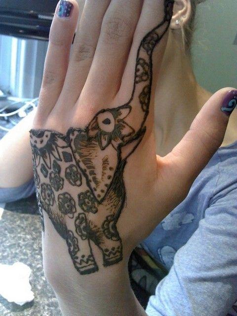 Pin By Tattoos By Devlin On Hand Tattoos Henna Tattoos Elephant