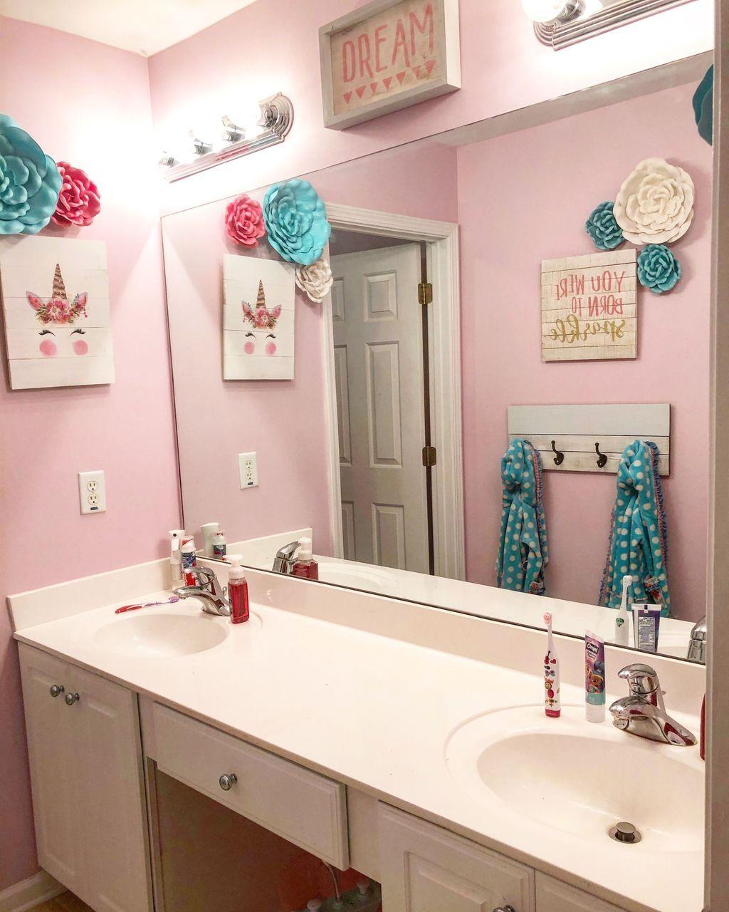 50 Lovely Girls Bathroom Ideas | Girl bathroom decor, Girl ...
