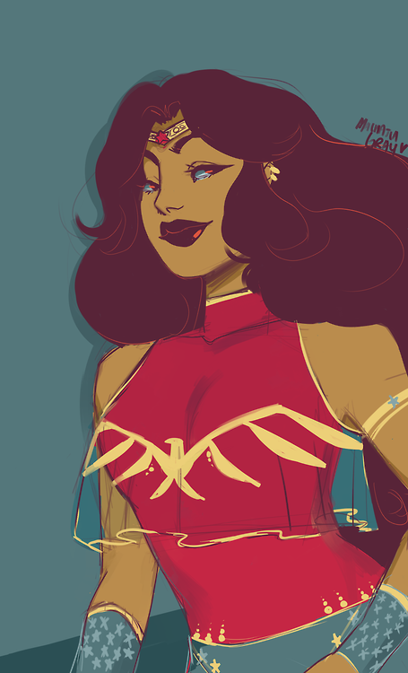 Kleiderschrank comic  wonder woman drawn with a palette and wearing a redesign I did a ...