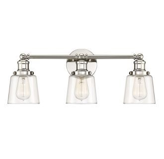 The Quoizel Polished Nickel Direct For Union 3 Light Wide Bathroom Vanity And Save