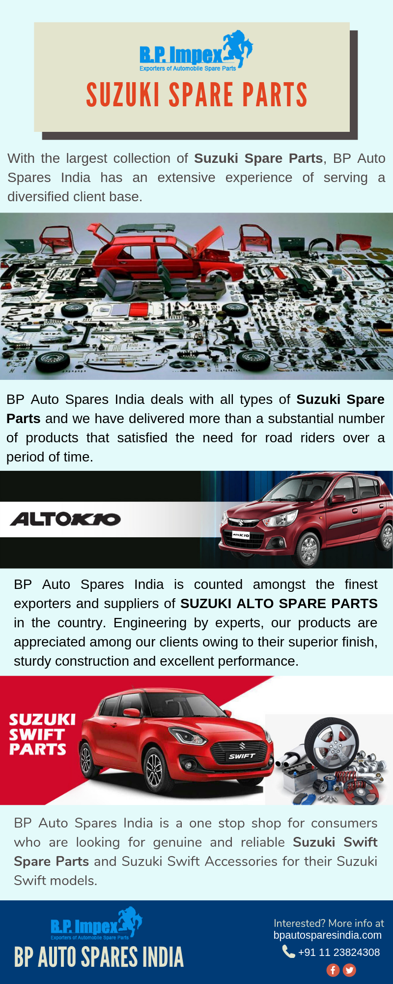 Bp Auto Spares India Produces Spare Parts At Very Affordable Rates
