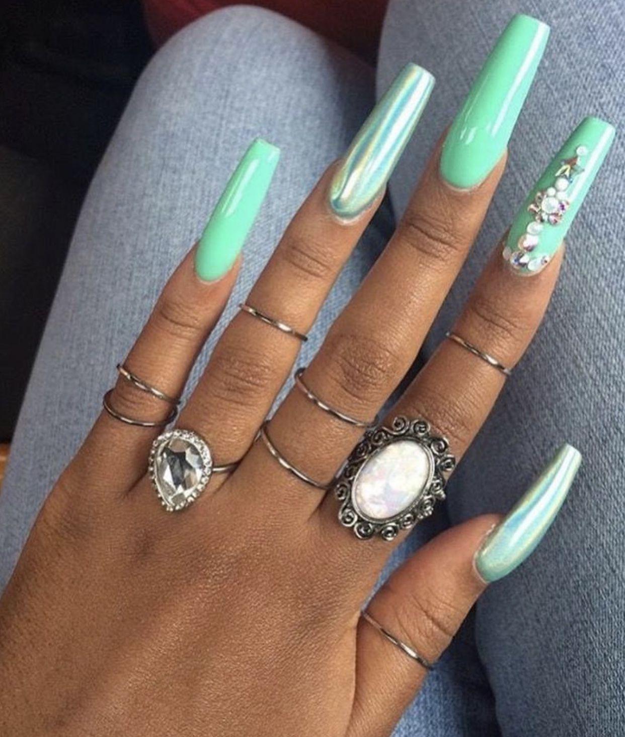 60 Pretty Acrylic Coffin Nails For Summer 2019 Summer Acrylic