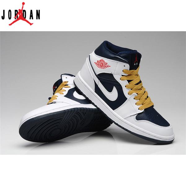 reputable site 7a3fa 4f193 Air Jordan 1 Retro Mens High White Gym Red Yellow Blue Shoes,Jordan-Jordan 1  Shoes Sale Online