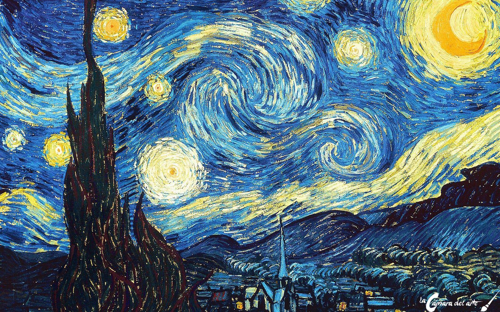 Resultado De Imagen Para La Noche Estrellada Van Gogh Arte Fondo De Arte Noche Estrellada
