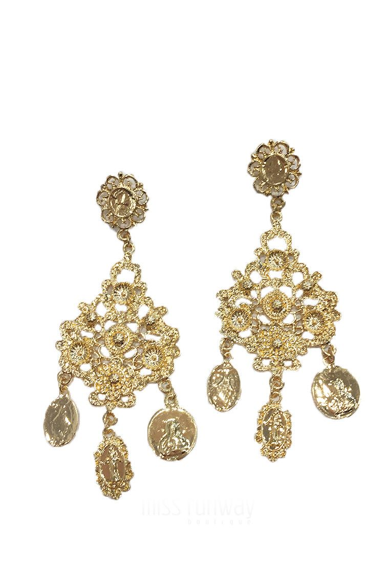 Miss Runway Fashion - All Saints Earrings - Gold