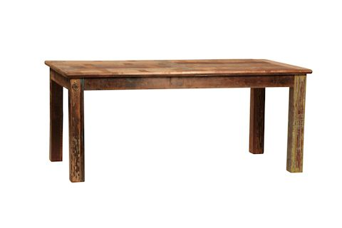Dovetail Furniture Nantucket Table in reclaimed Teak wood with