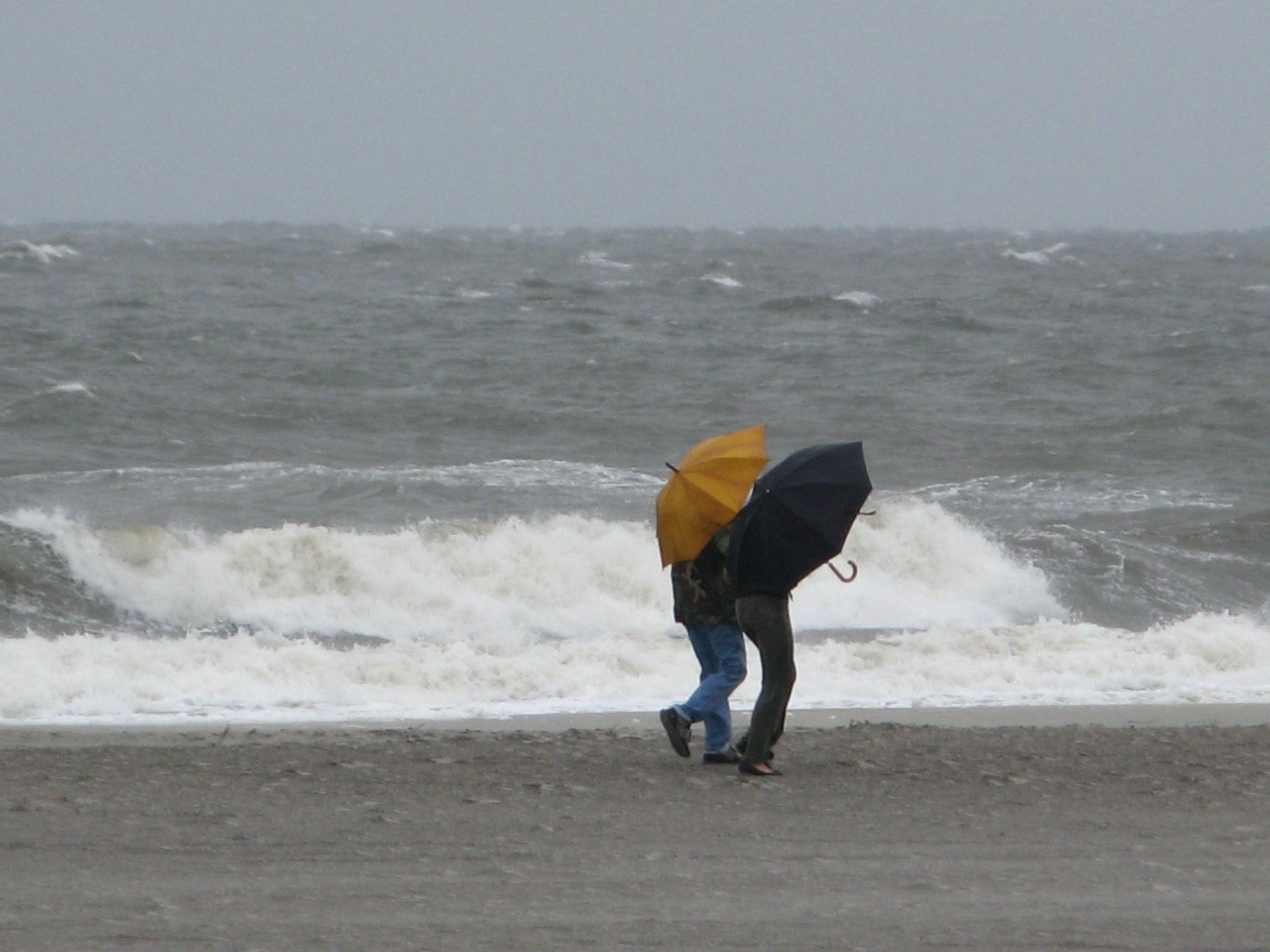 Rainy Day At The Beach Tybee Island Near Savannah Ga
