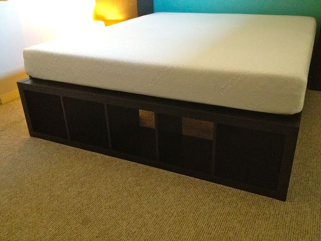 Ikea Hackers King Bed Frame Out Of Ikea Bookcases And Plywood