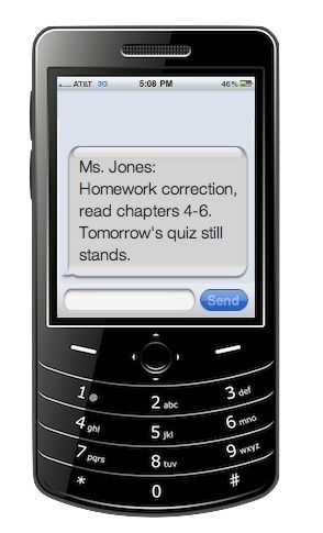 Use the Remind101 app to communicate with kids and their