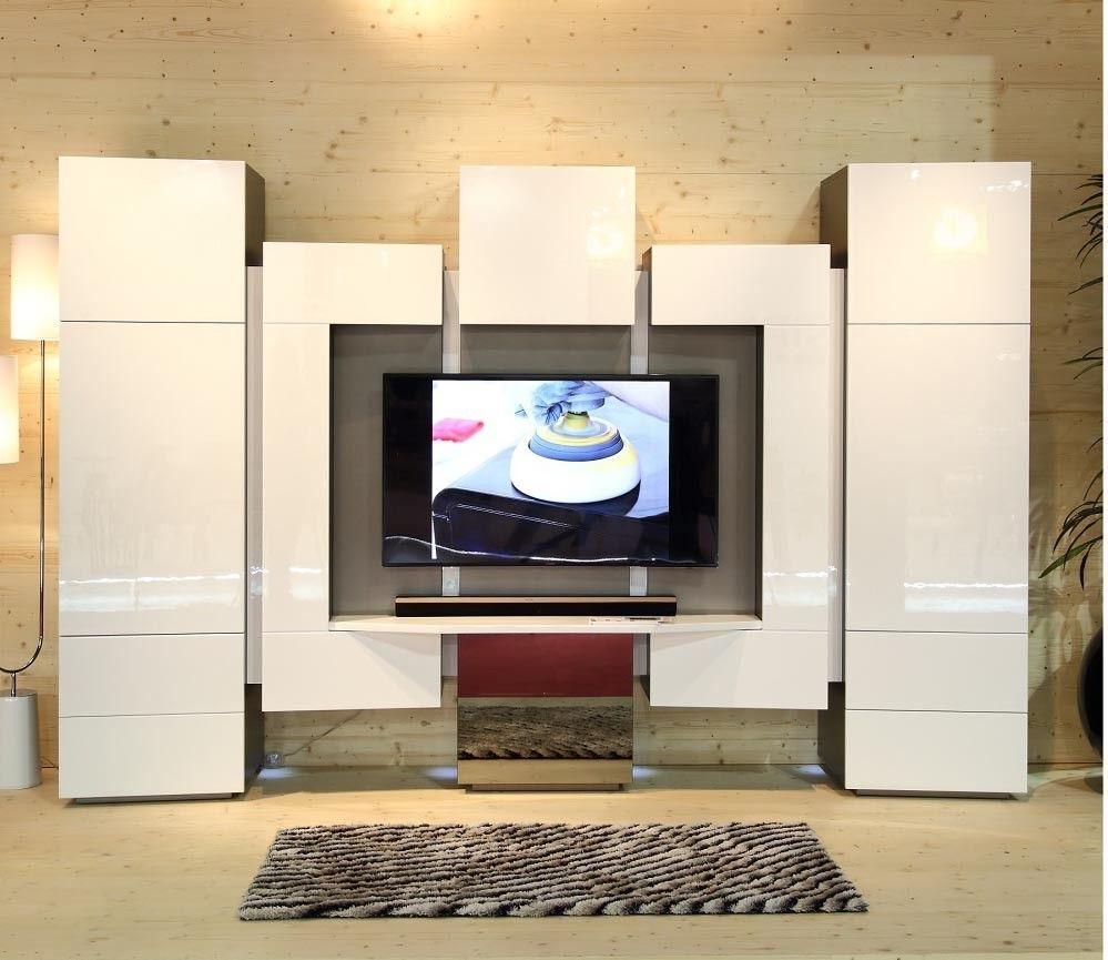 J M Furniture Kino Luxury Wall Entertainment Unit Centers