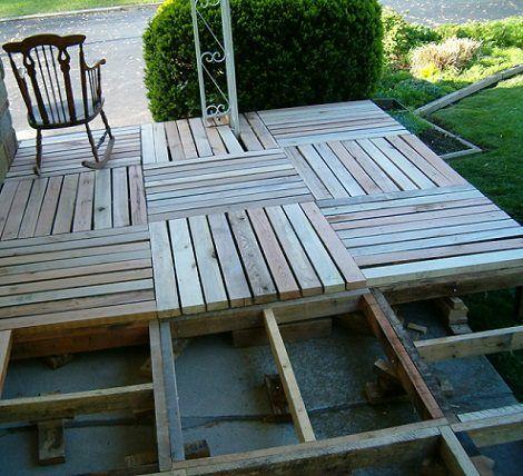 Como poner suelos de palets palets pinterest palets - Suelos faciles de poner ...