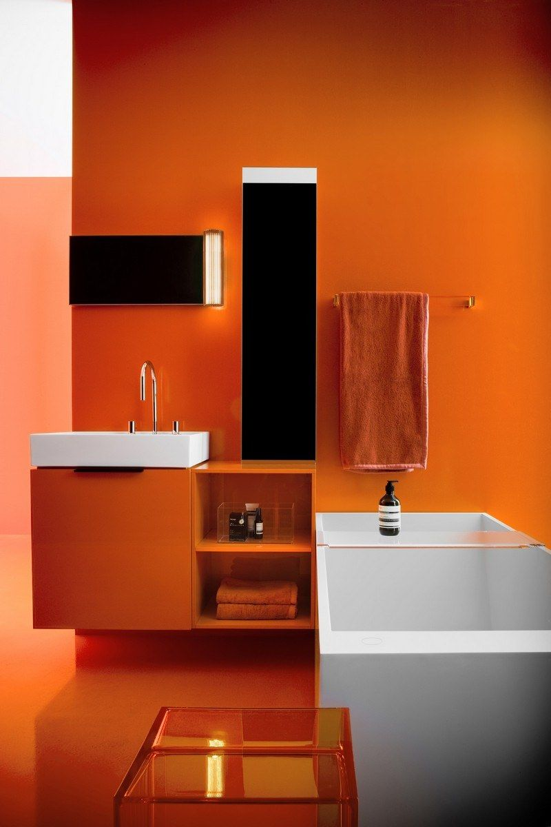Salle De Bain Rouge Et Blanc salle de bain colorée - 55 meubles, carrelage et peinture