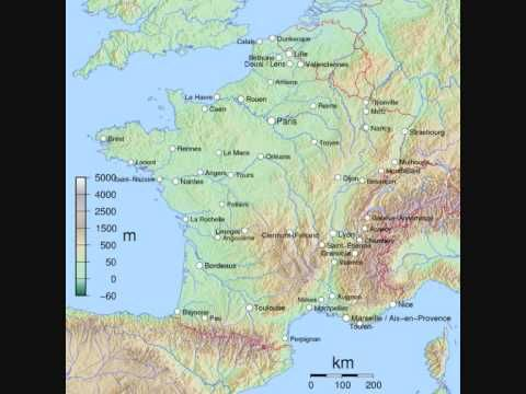 Map Of France Facts.Quick Facts About France Geography Co Op France Map France City