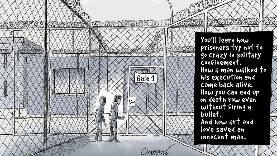 """It starts with Patrick Chappatte hunched over his phone at an event, talking with a death row inmate in Texas. """"Inside Death Row,"""" a five-part graphics journalism series from The New Yo…"""