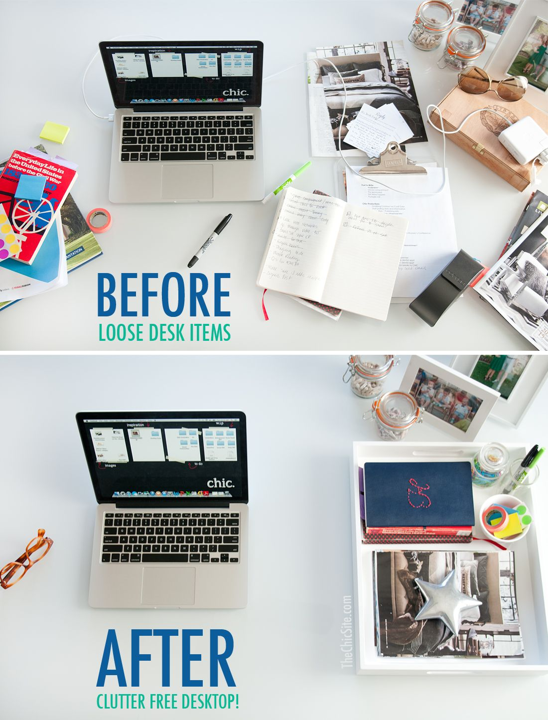 how to organize office space. Organize Your Desk With A Serving Tray How To Office Space Z