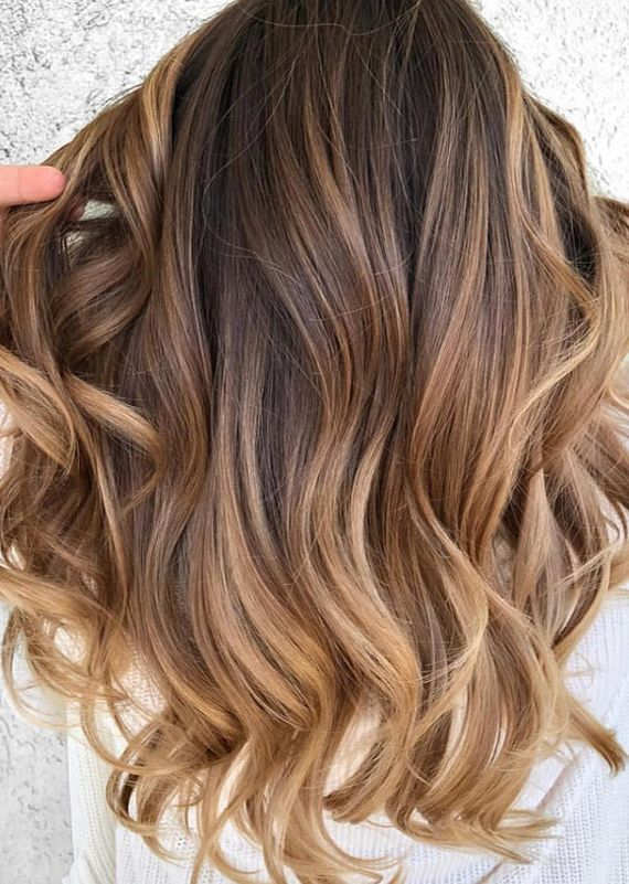 Hottest Caramel Balayage Hair Colors for Long Hair Looks in 2018