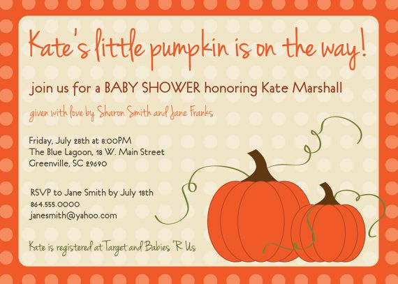Baby shower invitation pumpkin punkin fall autumn orange gender baby shower invitation pumpkin punkin fall autumn orange gender neutral boy or girl unisex filmwisefo