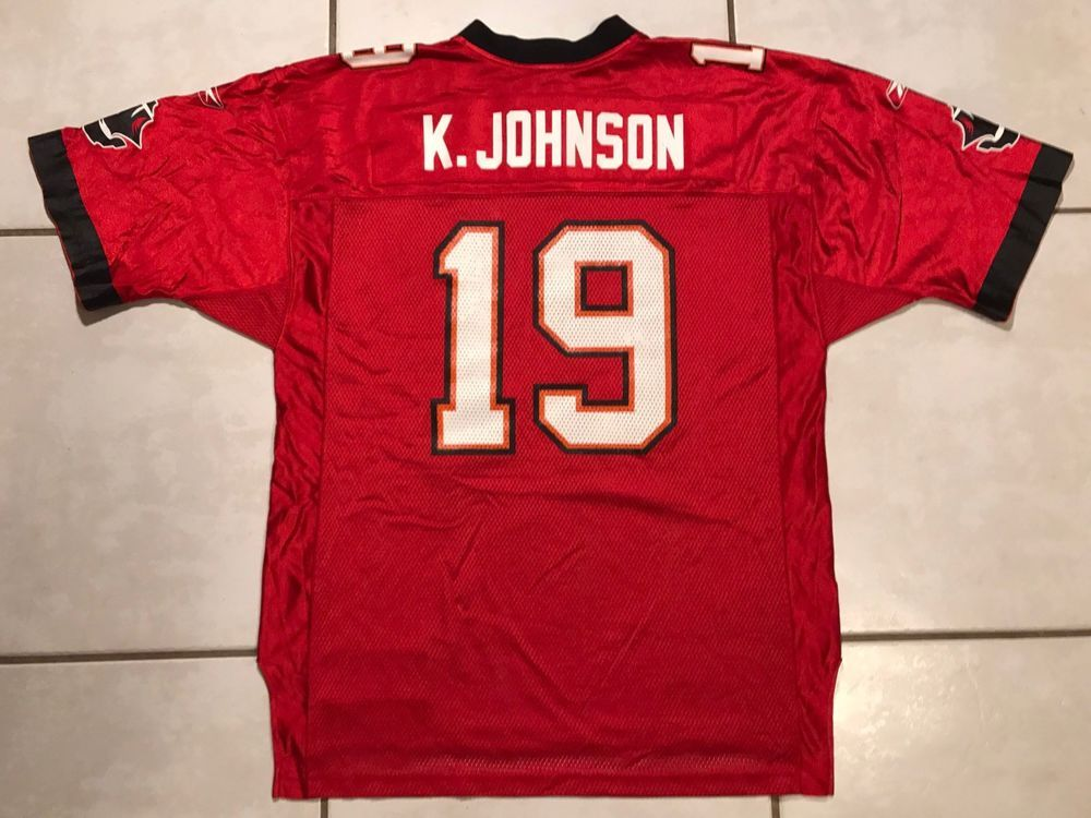 size 40 6c1a8 a21cb Vintage REEBOK Tampa Bay Buccaneers Keyshawn Johnson RED NFL ...
