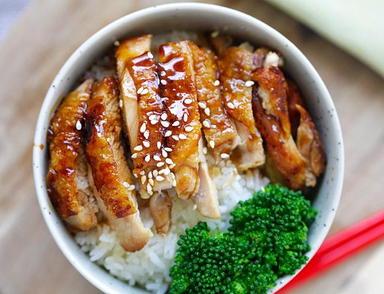 poulet teriyaki receta recettes sant pour manger sainement pinterest japon comida y. Black Bedroom Furniture Sets. Home Design Ideas