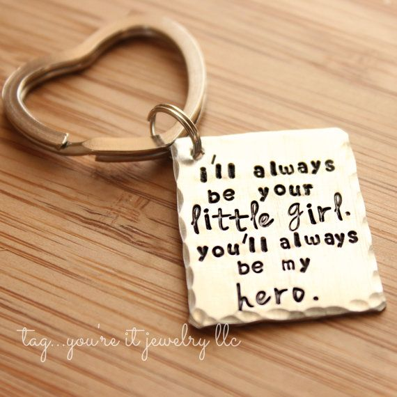 I/'ll ALWAYS BE YOUR LITTLE GIRL UK STOCK You/'ll Always Be My Hero Keyring
