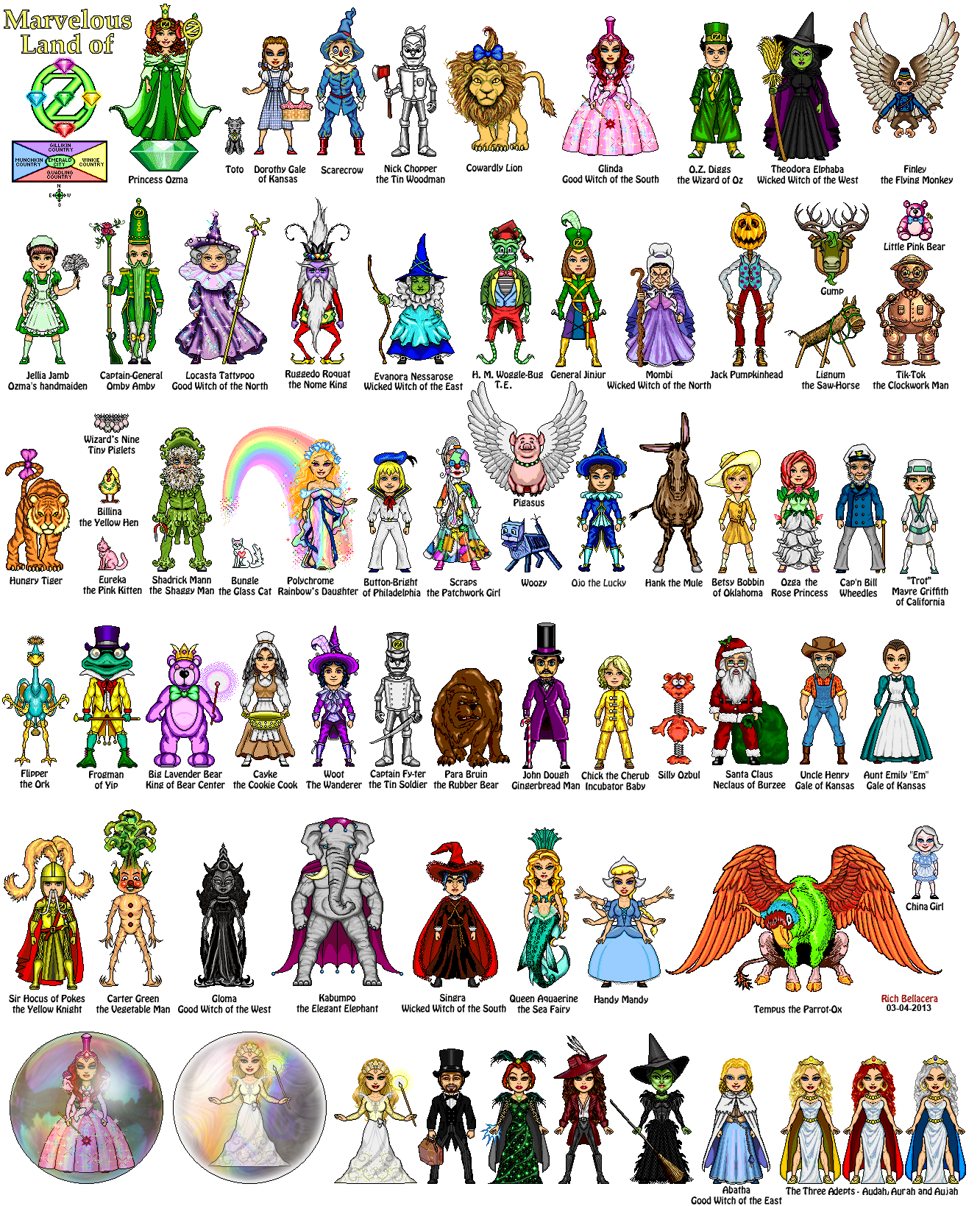 Oz_Characters_RichB.png (1332×1639) Wizard of oz
