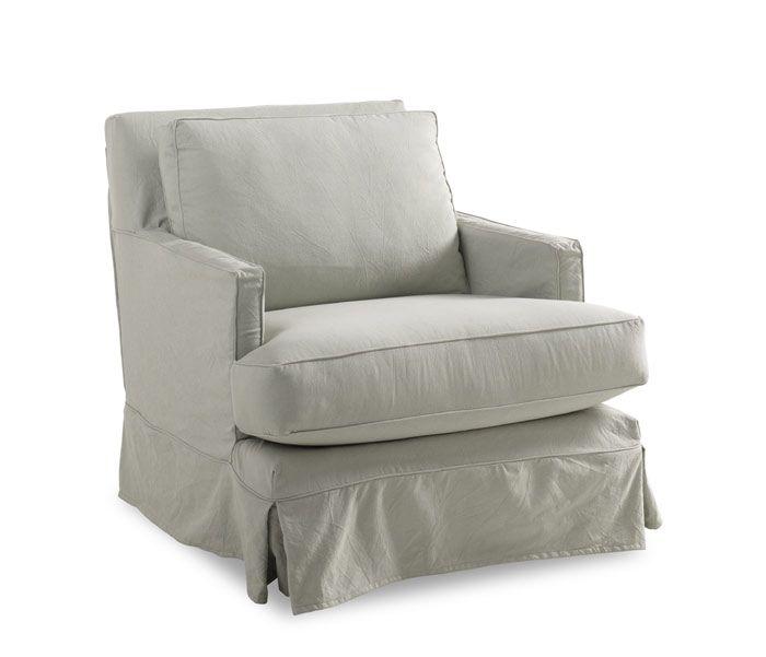 Gentil WW Pamela Swivel Chair Slipcovered Swivel Chair