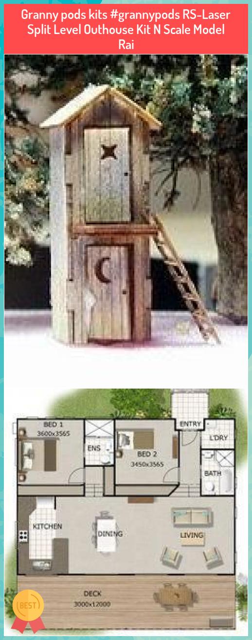 Granny pods kits #grannypods RS-Laser Split Level Outhouse Kit N Scale Model Rai #Granny #pods #kits ##grannypods #RS-Laser #Split #Level #Outhouse #Kit #Scale #Model #Rai