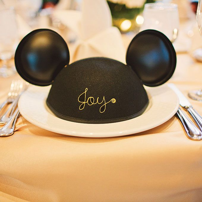 Brides Personalized Mickey Mouse Ears Favor A Pair Of