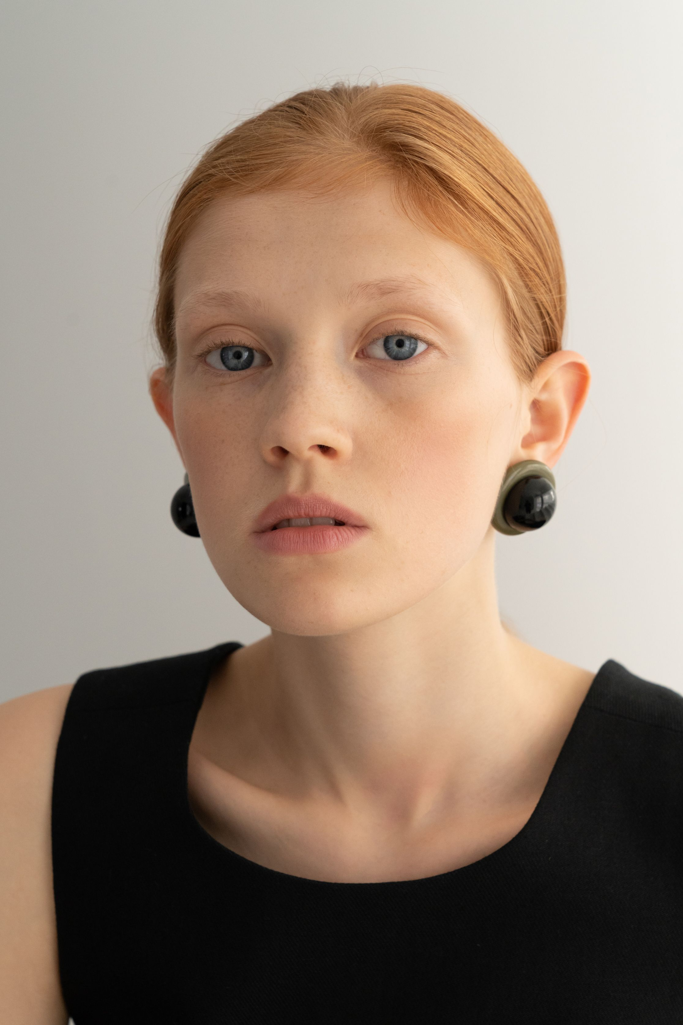 Dark and mysterious, these statement earrings will add an