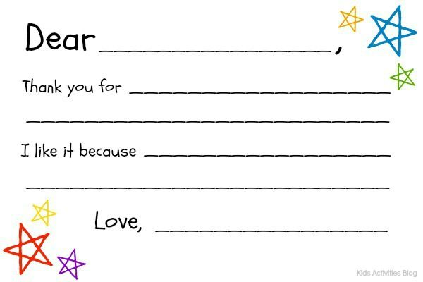 Fill In The Blank Thank You Note Free Printable Thank You