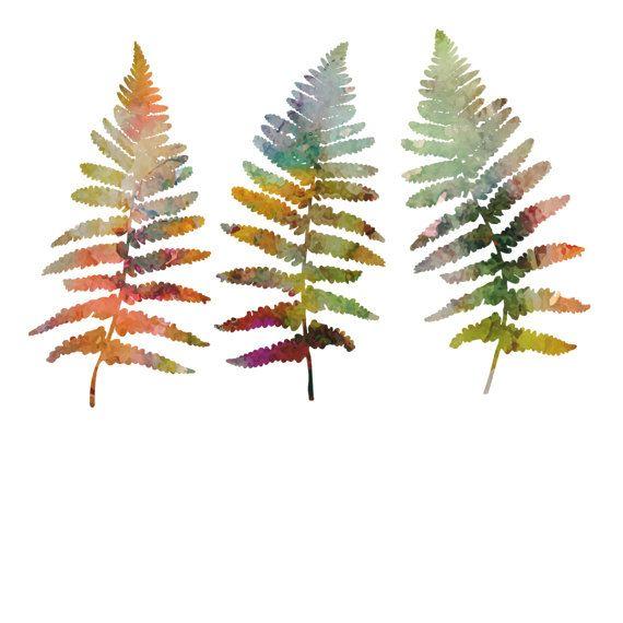 Watercolor Fern Leaves Vector Floral Clipart Eps Png By Art4ddlite Botanical Illustration Fern Ferns Fe Fern Tattoo Gem Tattoo Leaves Illustration