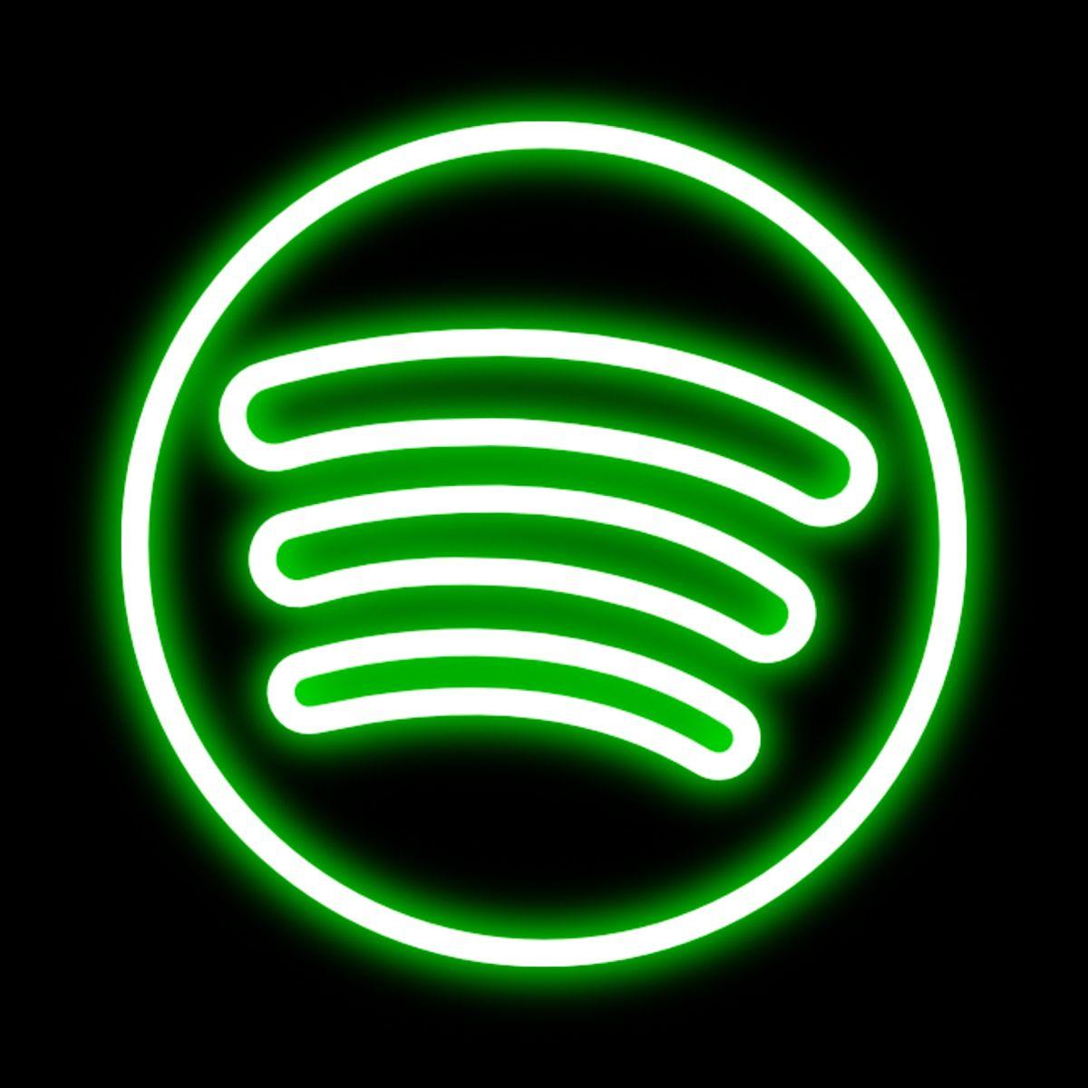 Spotify neon icon