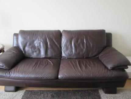 3er Leder Sofa Couch NATUZZI In Niedersachsen