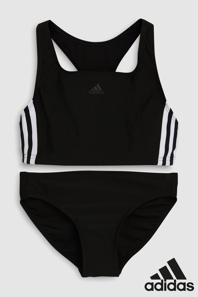 adidas Black 3 Stripe Bikini (With images) | Girls