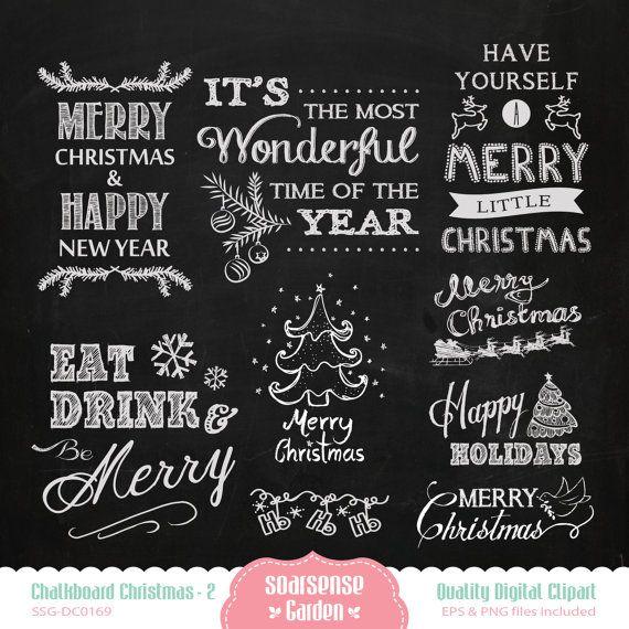 chalkboard christmas digital clipart 2 kreidetafel zeichen kreidekunst und k chen tafel