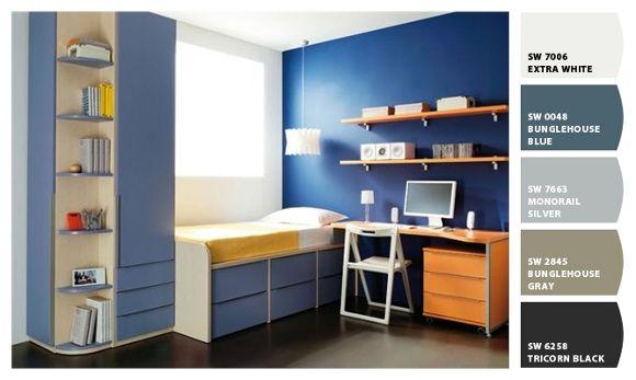 Dormitorios colores azules camas pinterest color - Dormitorios colores calidos ...