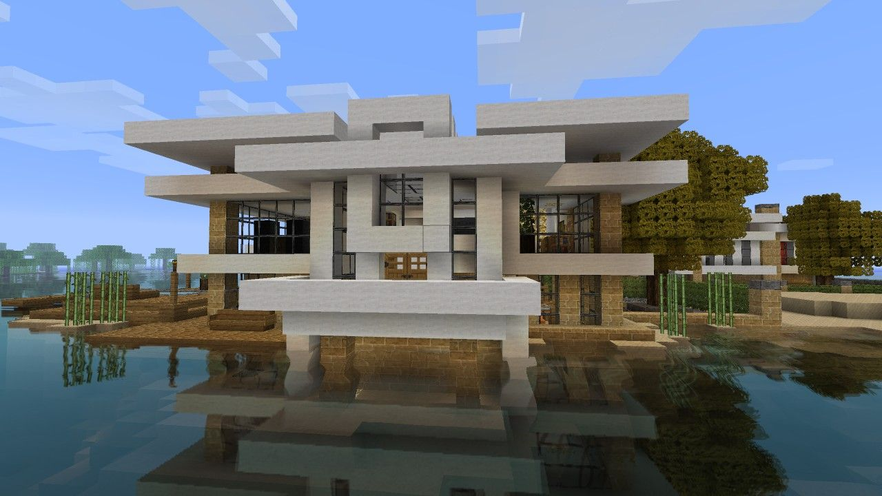 Modern House Tutorial 2 Beach Town Project Minecraft Project Minecraft Modern Minecraft Beach House Minecraft Modern House Blueprints