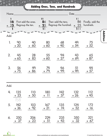Review Two Digit Addition Math Worksheets Pinterest Worksheets