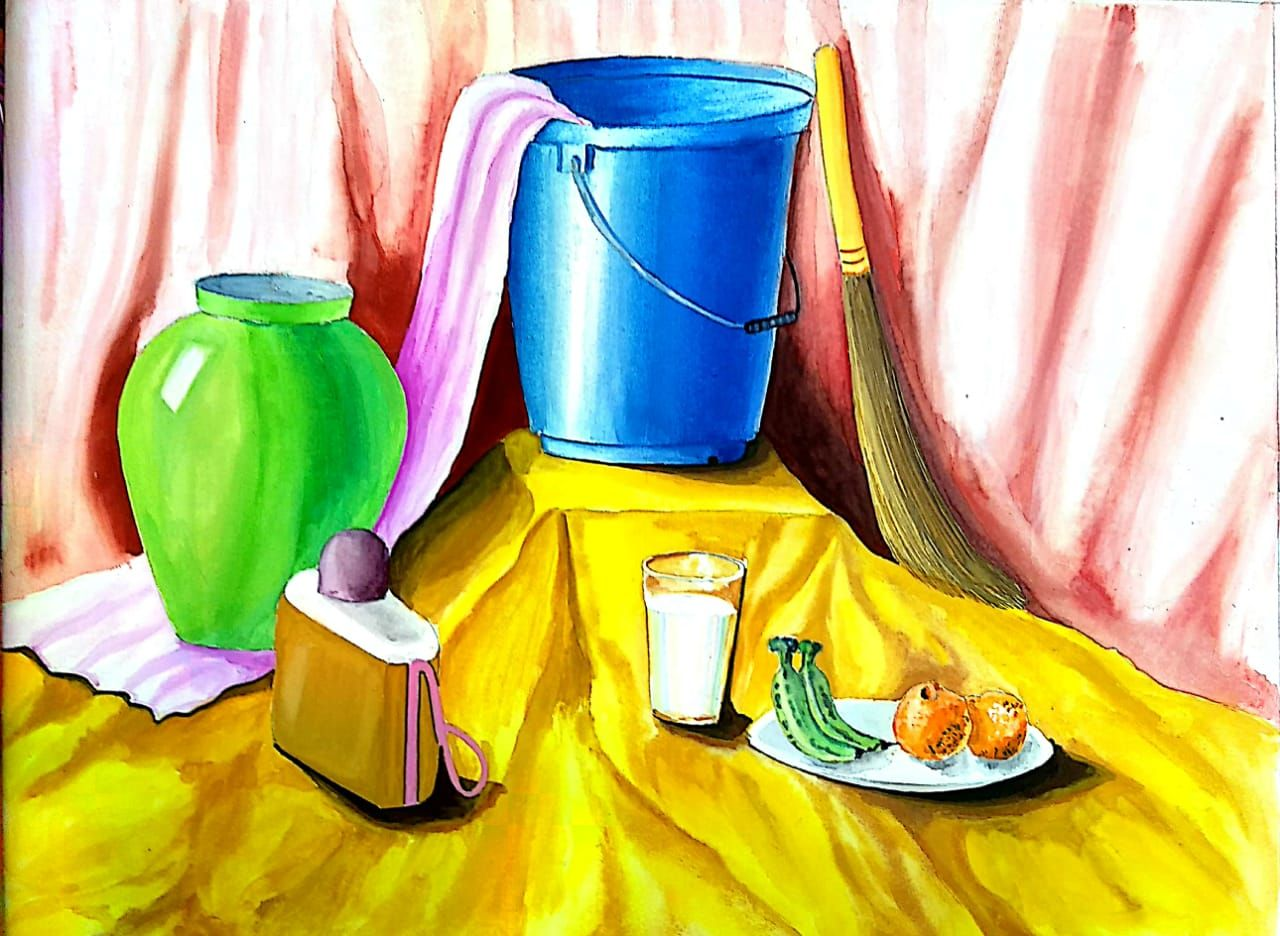 Still Life For Students Of Intermediate Grade Exam Elementary
