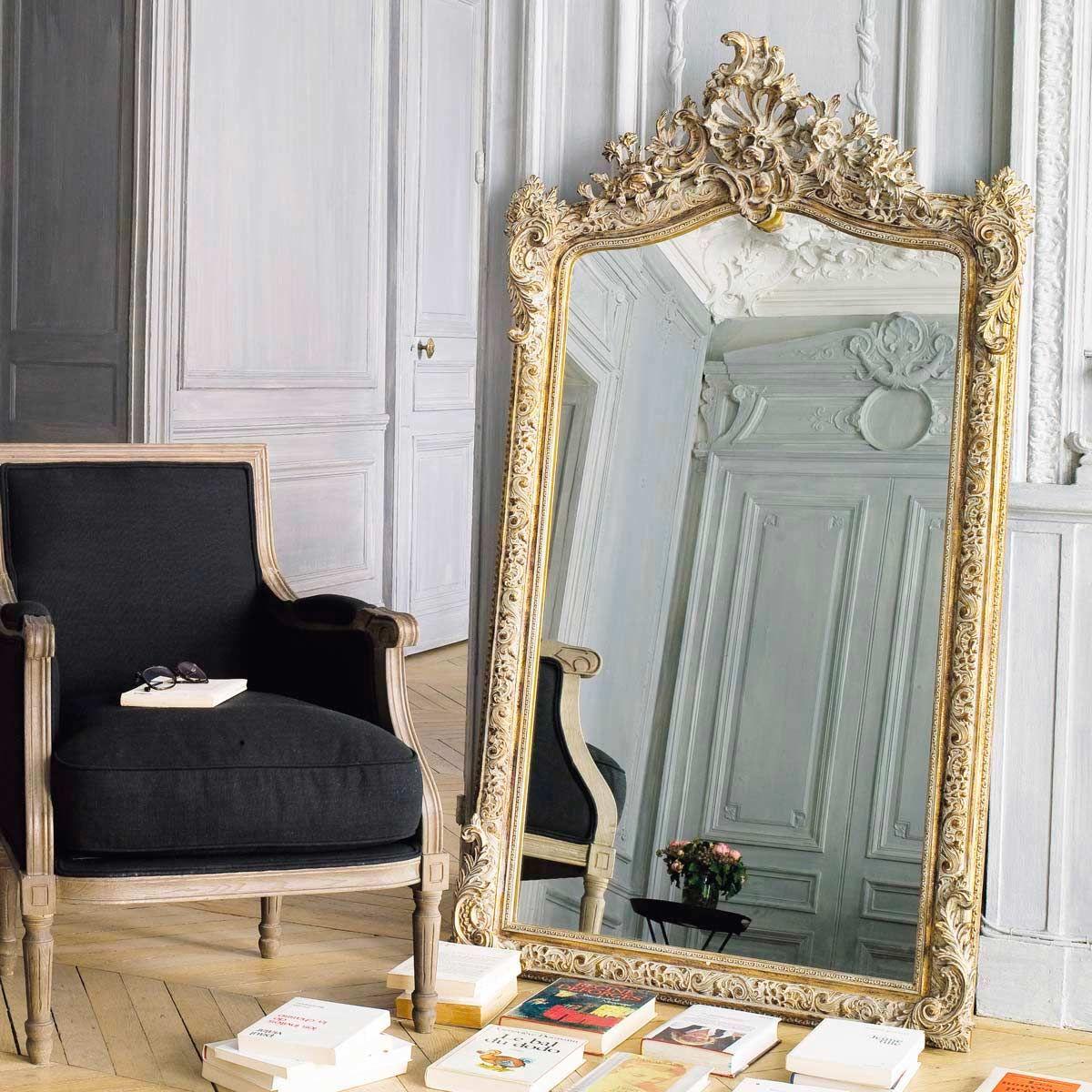 Goudkleurige spiegel 85x153 Miroir baroque, Maison du