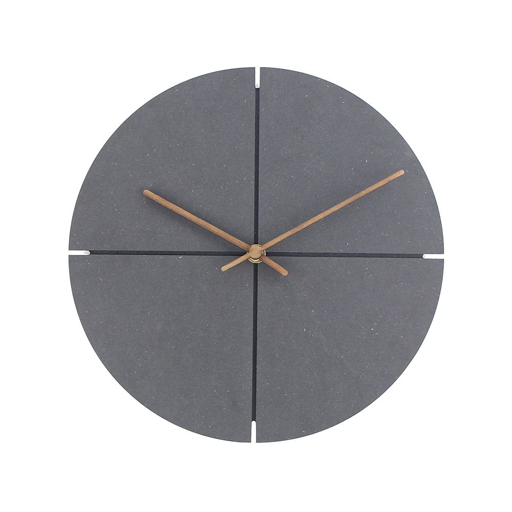 12 Inch Wood Wall Clock Simple Modern Nordic Minimalist Clocks Artistic European Brief Wooden Wall Watch Home Decor Silent Wall Clock Simple Wood Wall Clock Minimalist Clocks