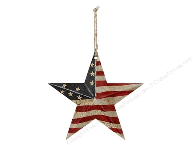 51e5de6ae8ef Darice USA Flag Barn Star is a metal dimensional star painted with Red and  Cream stripes