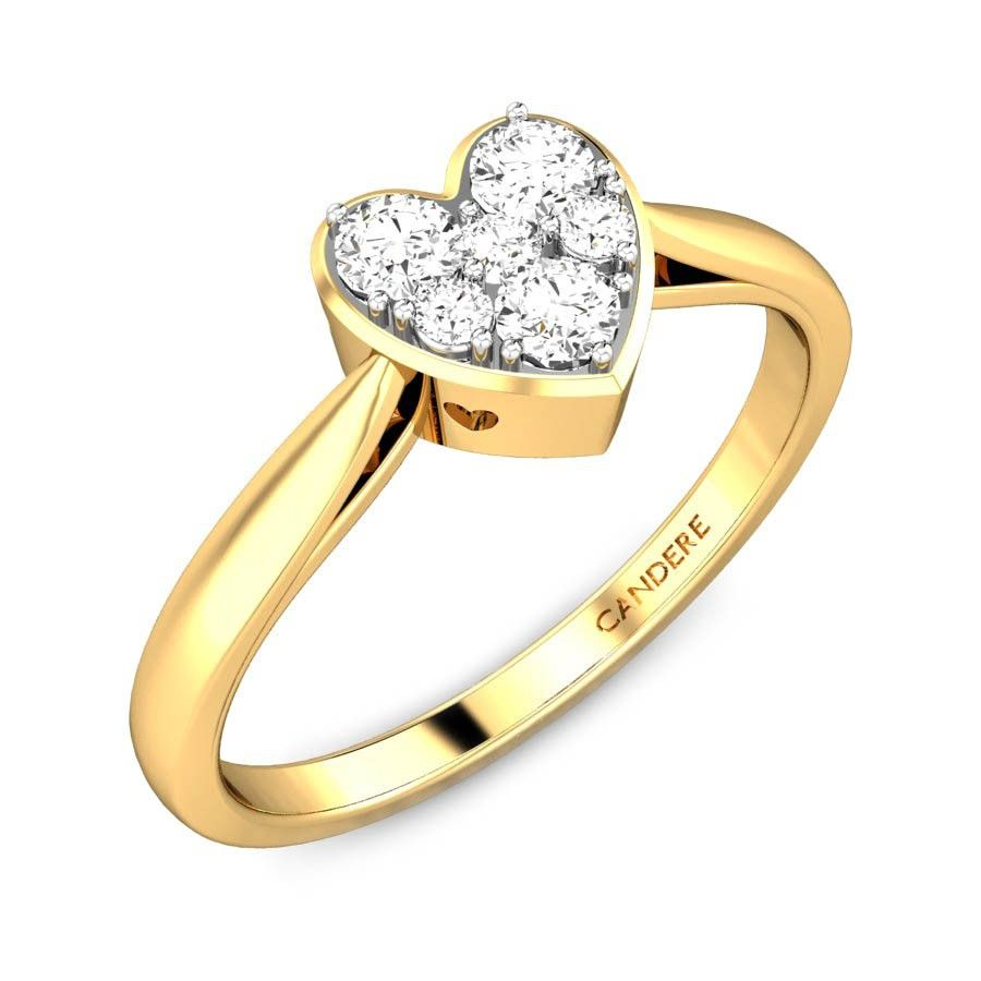 Heart of light ziah diamond ring ziah collection by candere a