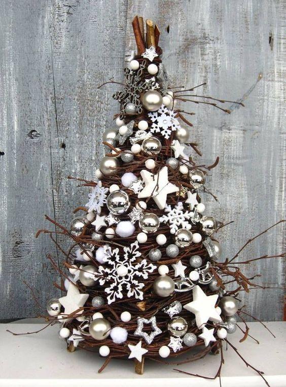 Ideas para Navidad en color blanco   Fin de año, Decoración navideña ...
