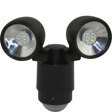 Sarus Twin LED Security Light - Black, Exterior Lights